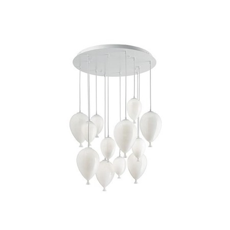 IDEAL LUX lampa wisząca  CLOWN SP12 100890 bianco