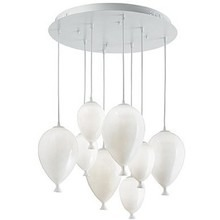 IDEAL LUX lampa wisząca  CLOWN SP8 100883 bianco